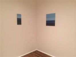 in daylight small paintings: installation view: merrill wagner [from right to left] checklist numbers 23. and 24.